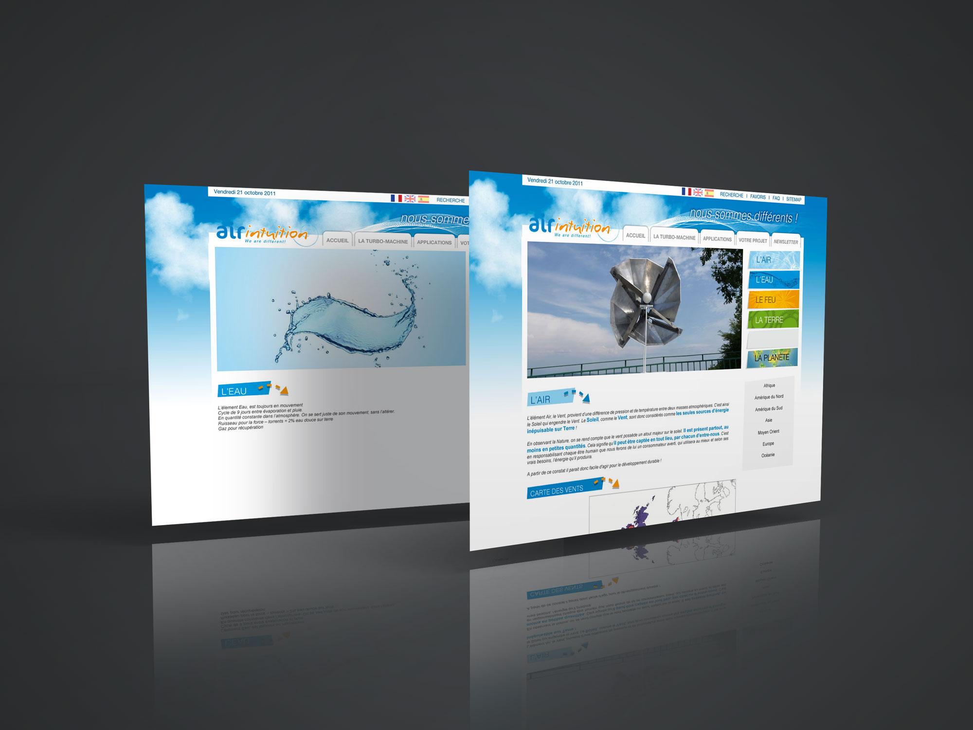 site internet AirIntuition - page L'air - L'eau