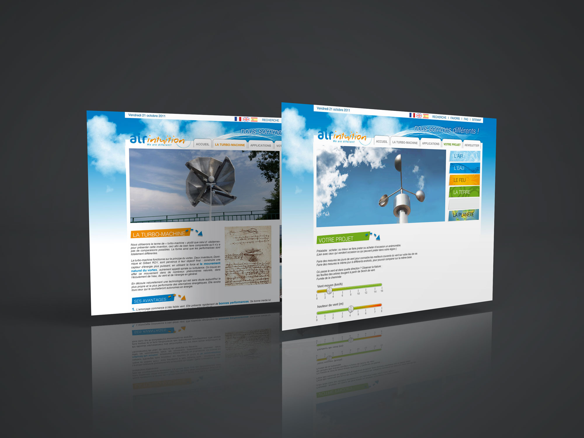 site internet AirIntuition - page Projet - Turbo machine