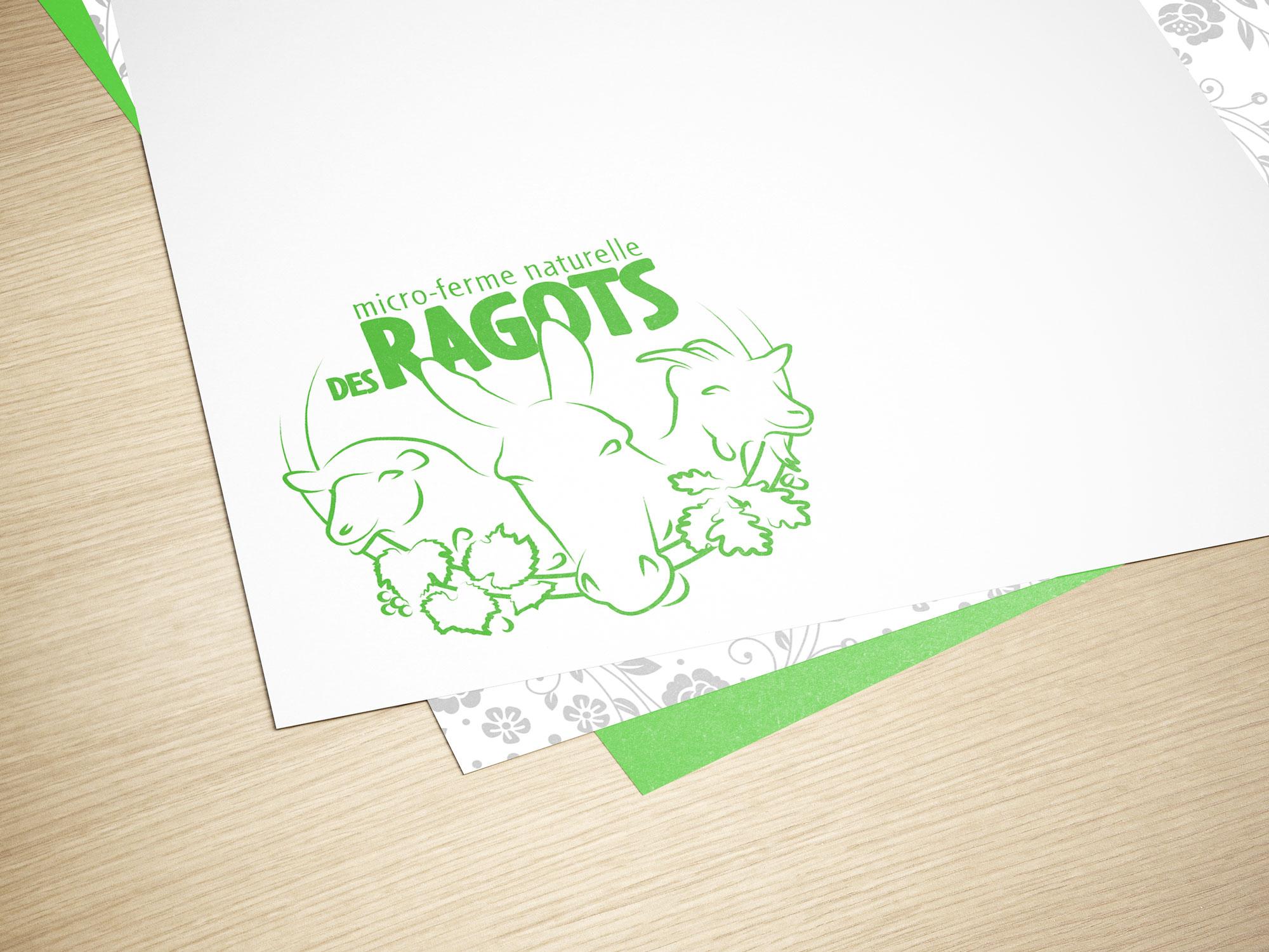 logotype ferme des ragots