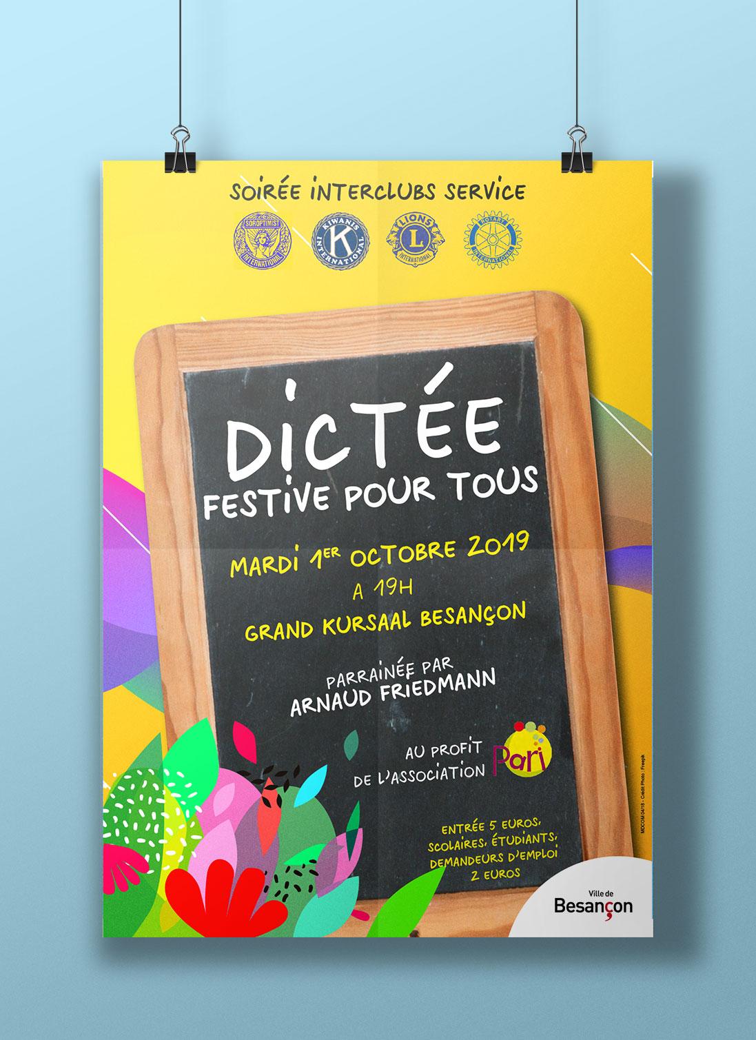 Affiche Soirée interclubs service Besançon