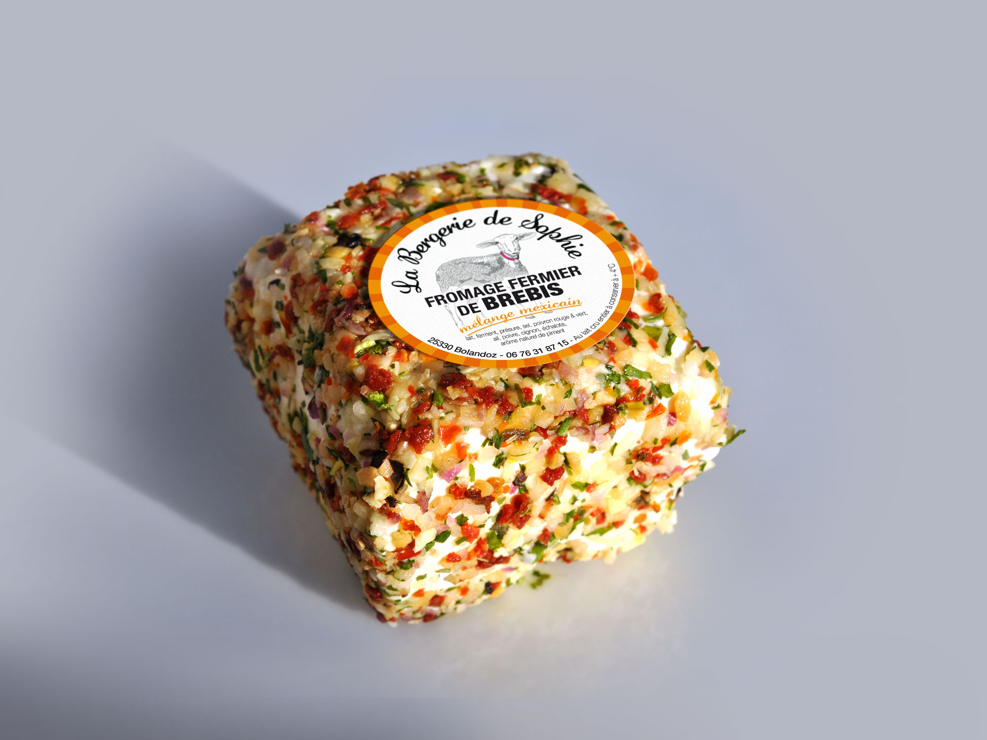 étiquette fromage de brebis saveur mélange mexicain