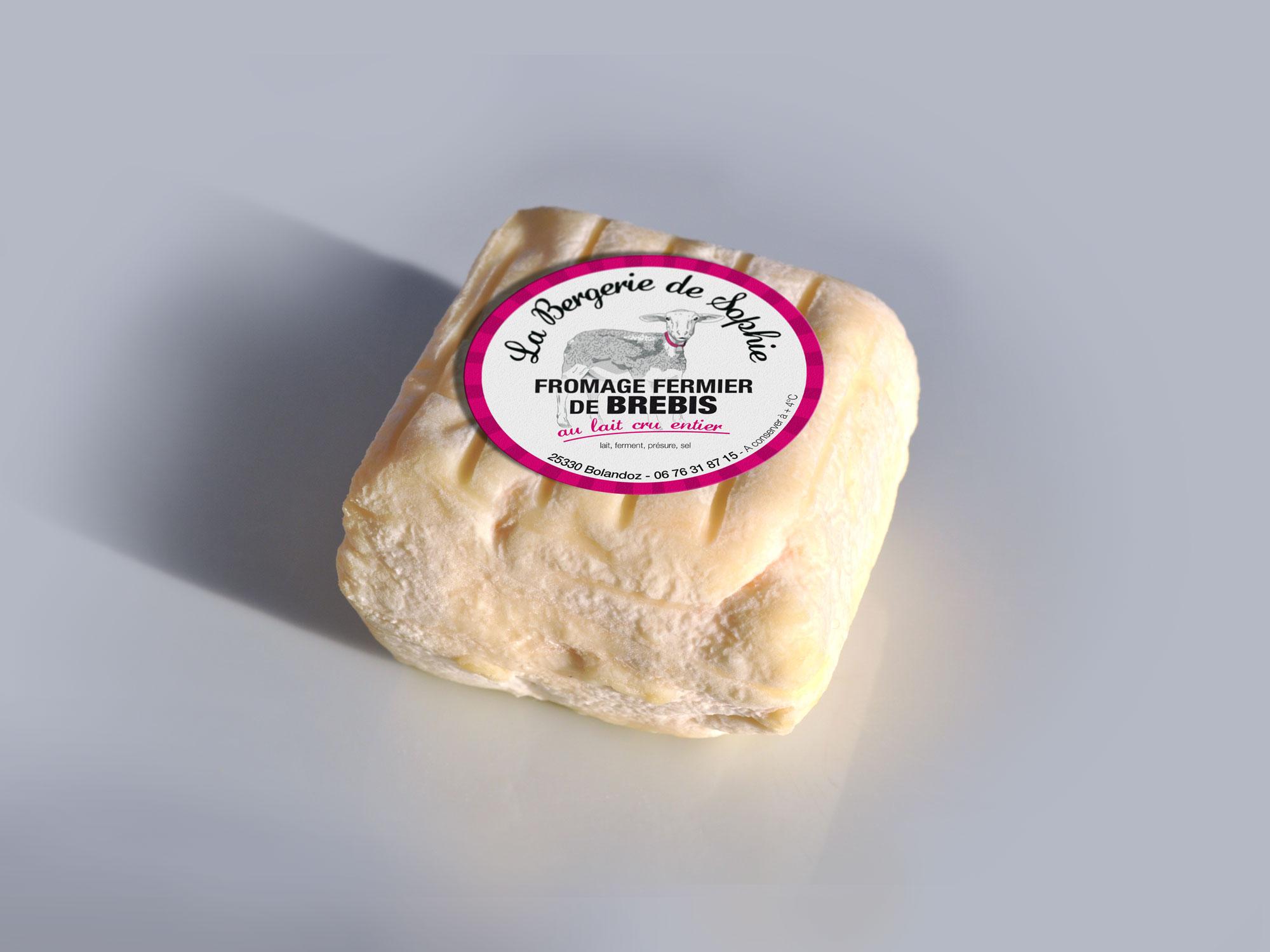 étiquette alimentaire fromage de brebis