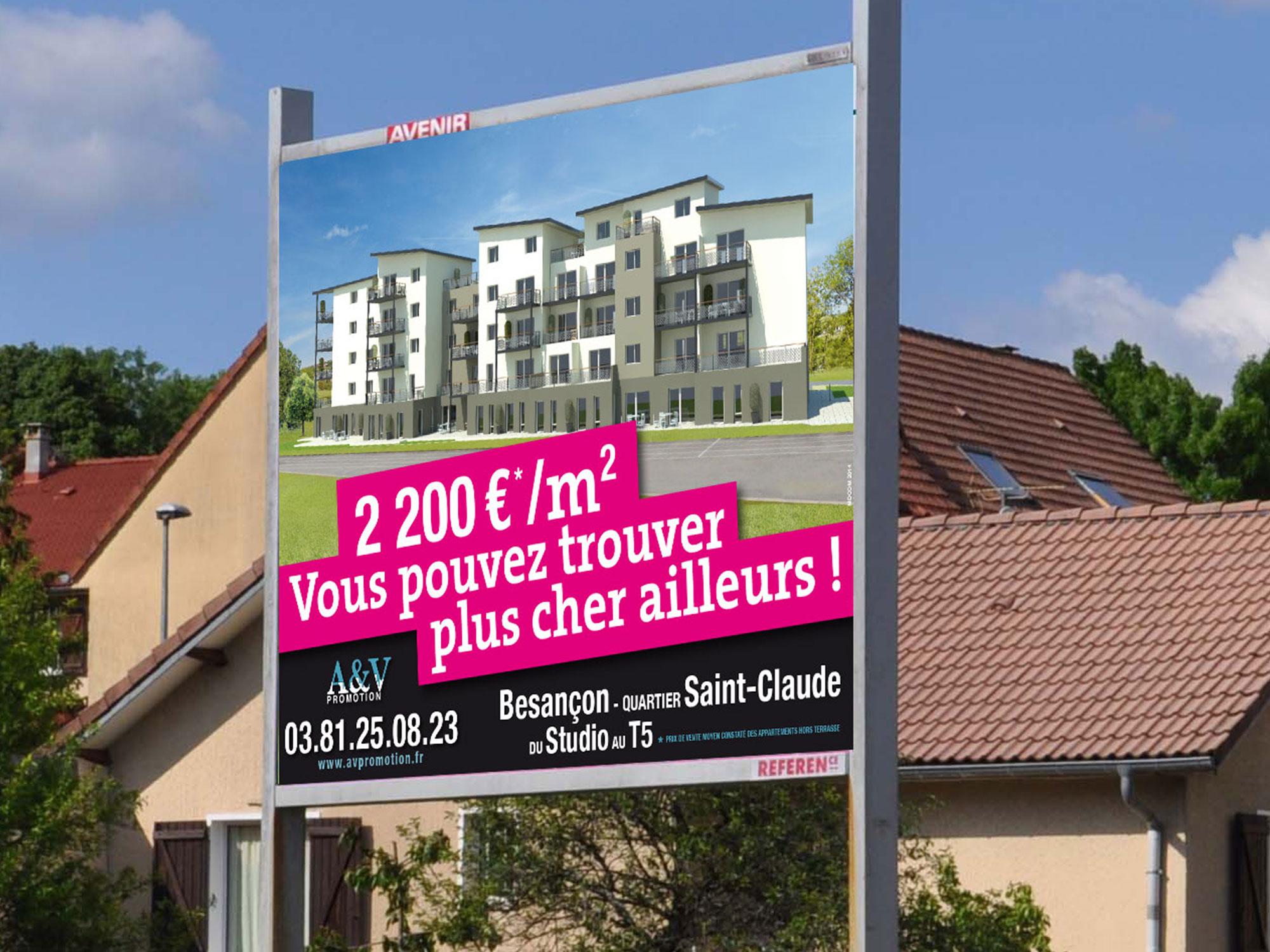 affichage 4x3 programme immobilier