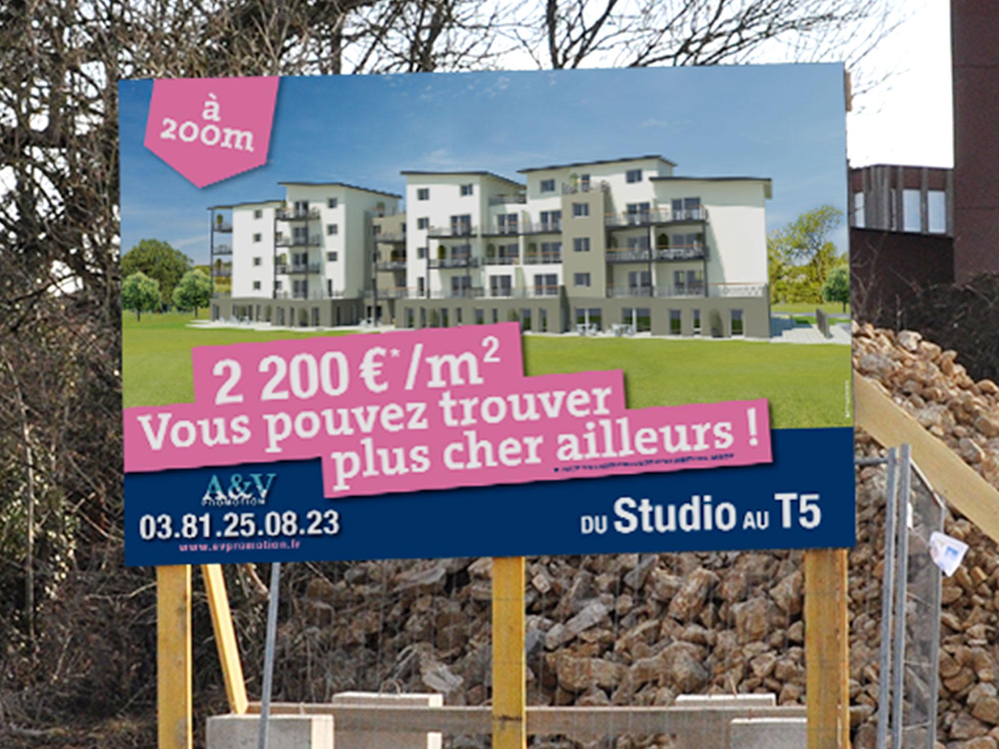 panneau publicitaire programme immobilier