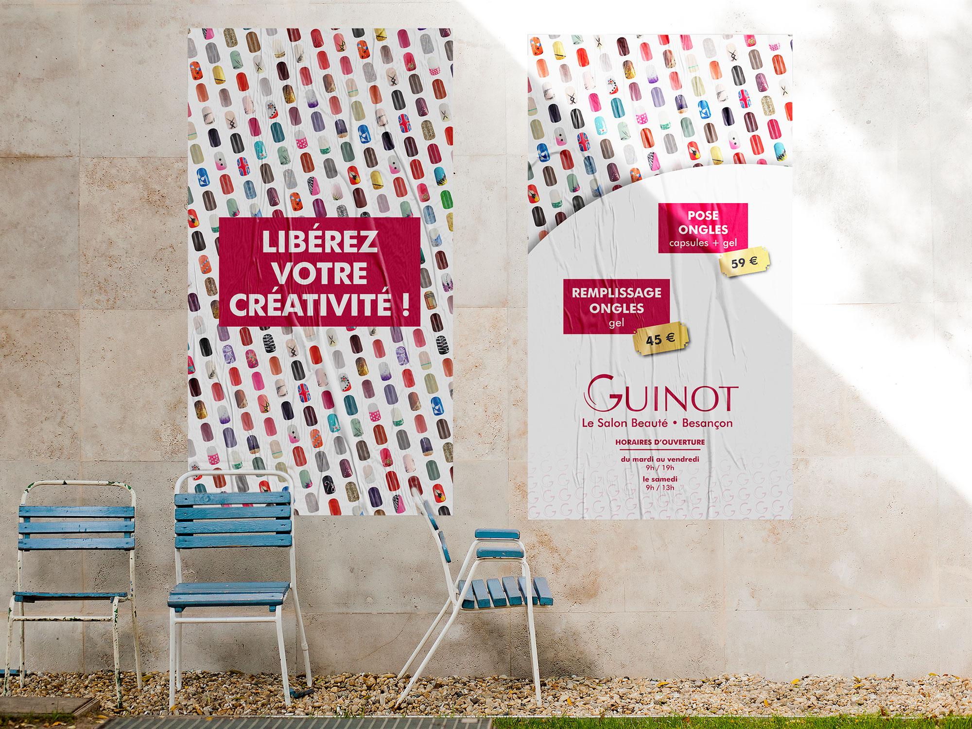 affiche onglerie Guinot