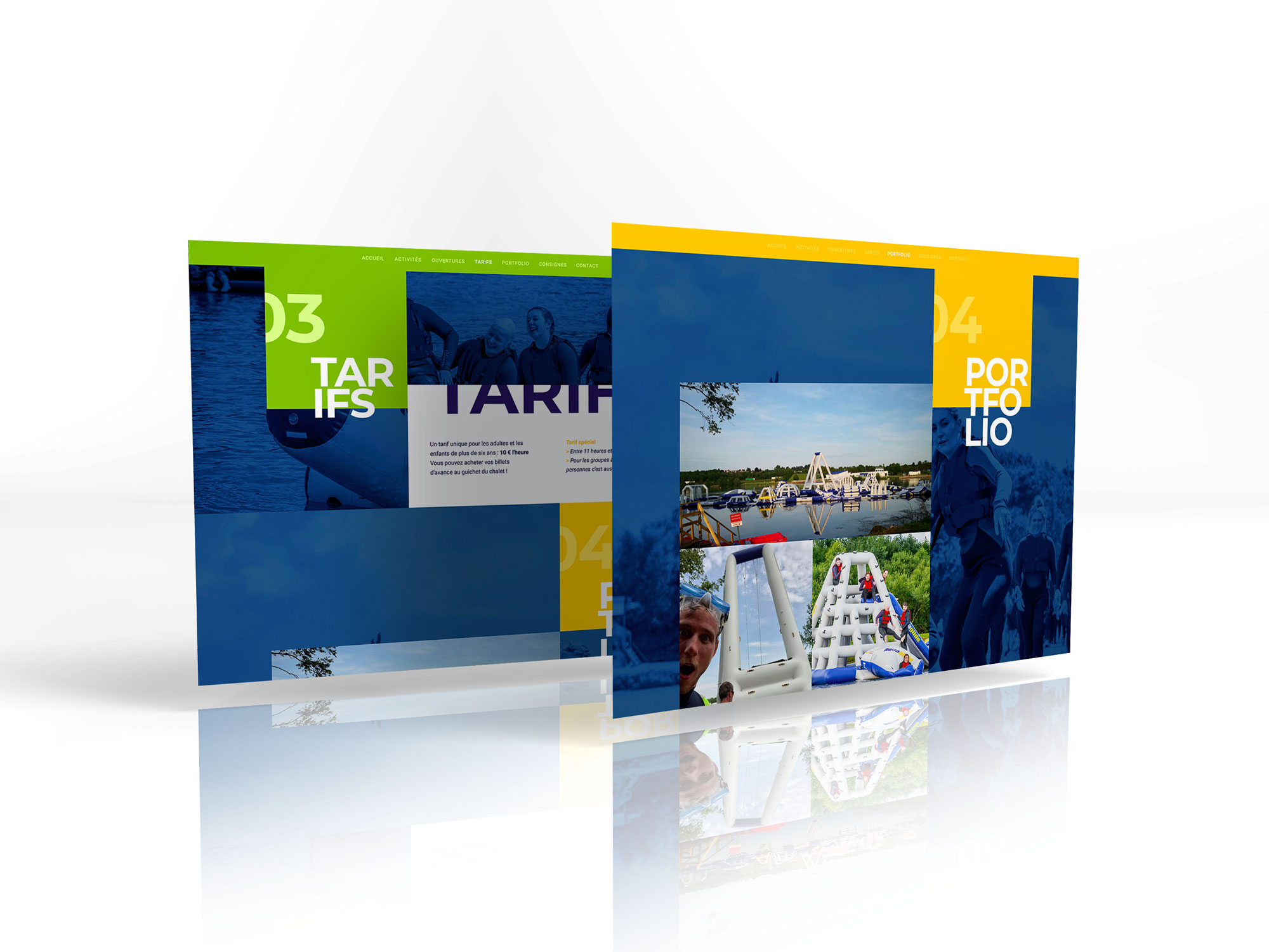 site internet aquatikparc pages tarif - portfolio