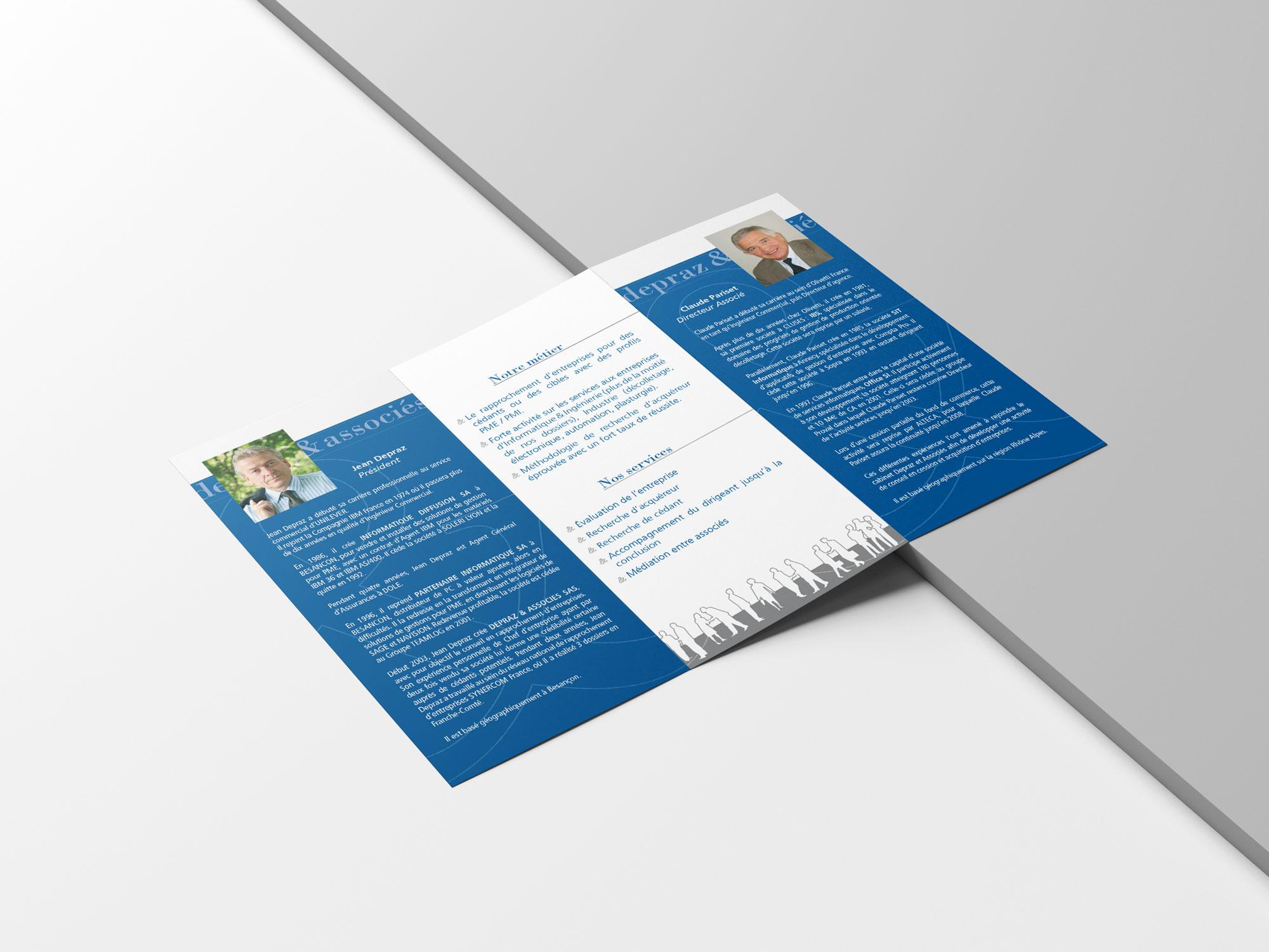 leaflet 3 volets Depraz&Associés - verso