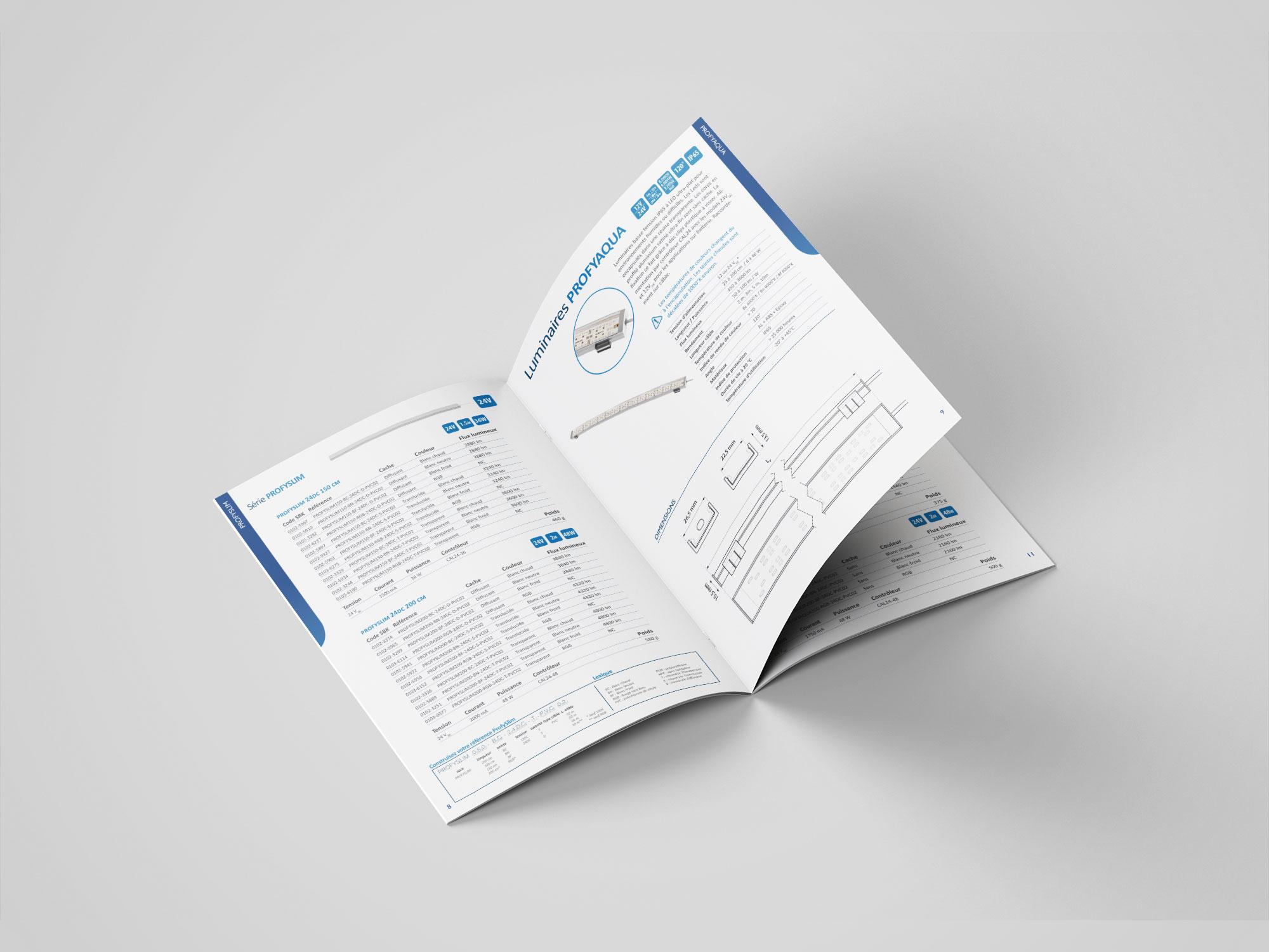 catalogue technique luminaire